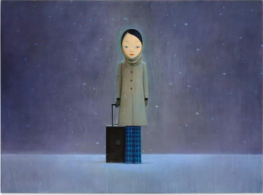 春拍巡礼丨刘野《让我留在黑暗里》:红色系列巨作外唯一的大尺幅人物画作